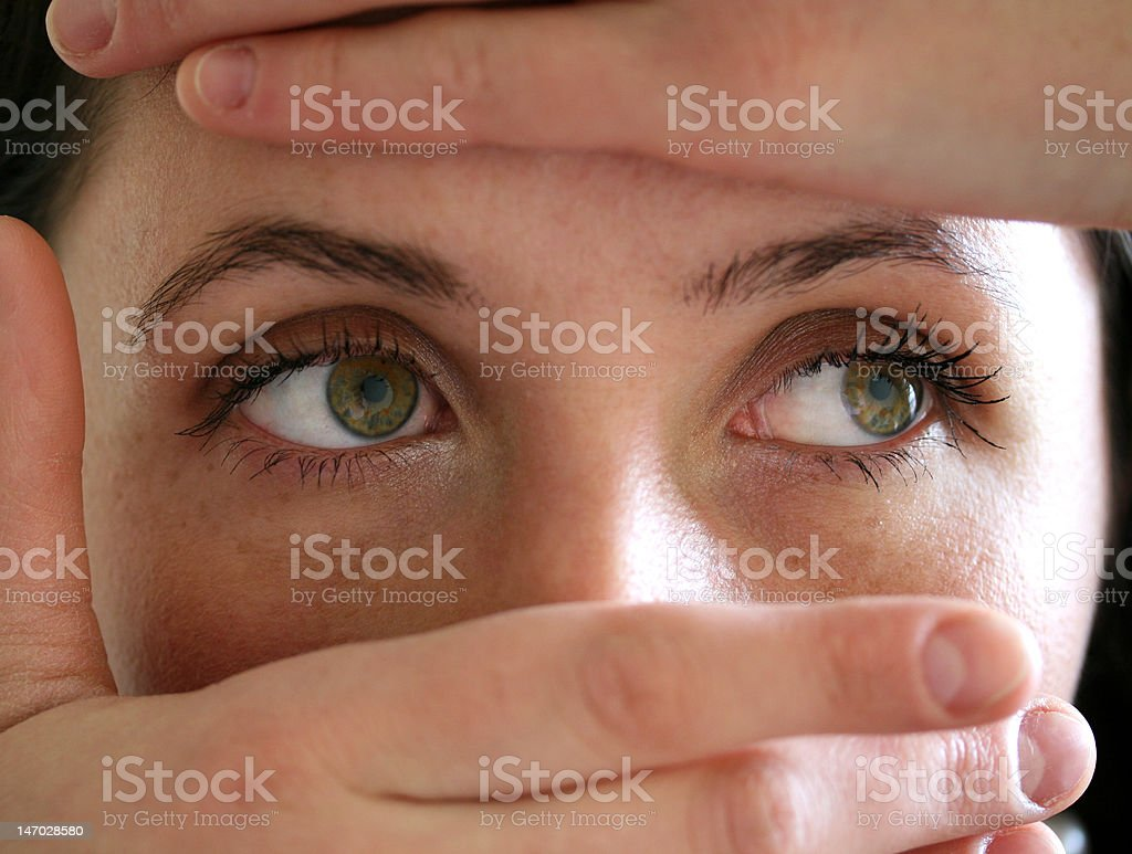woman's eyes royalty-free stock photo