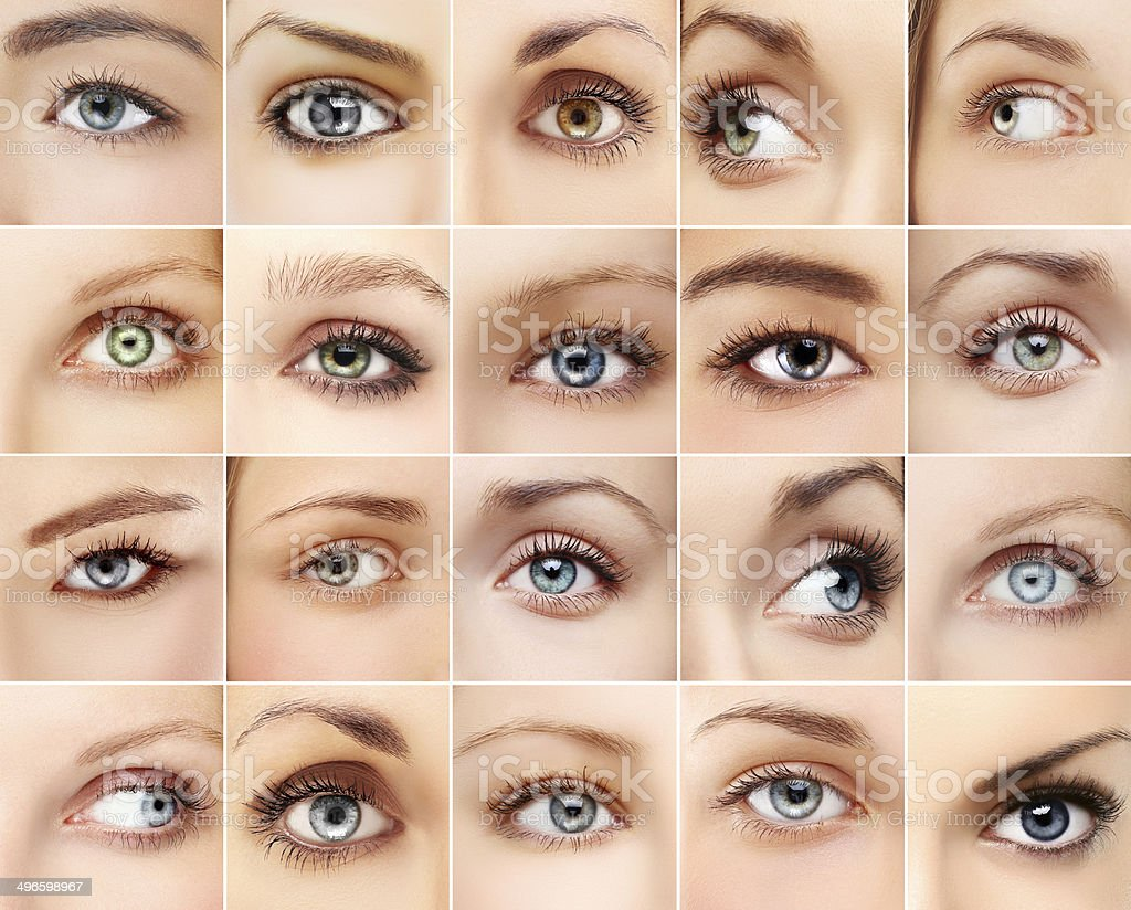 Woman's eyes stock photo