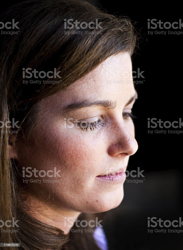 Womans Face in Natural Light royalty-free stock photo