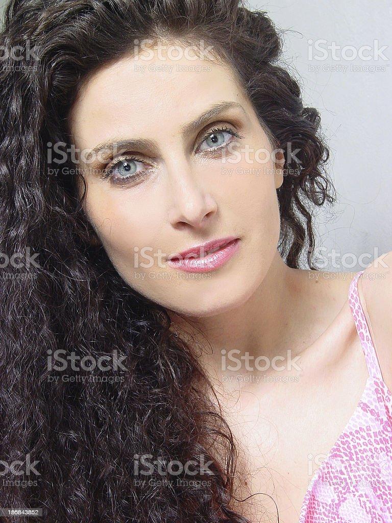 Volto di donna foto stock royalty-free