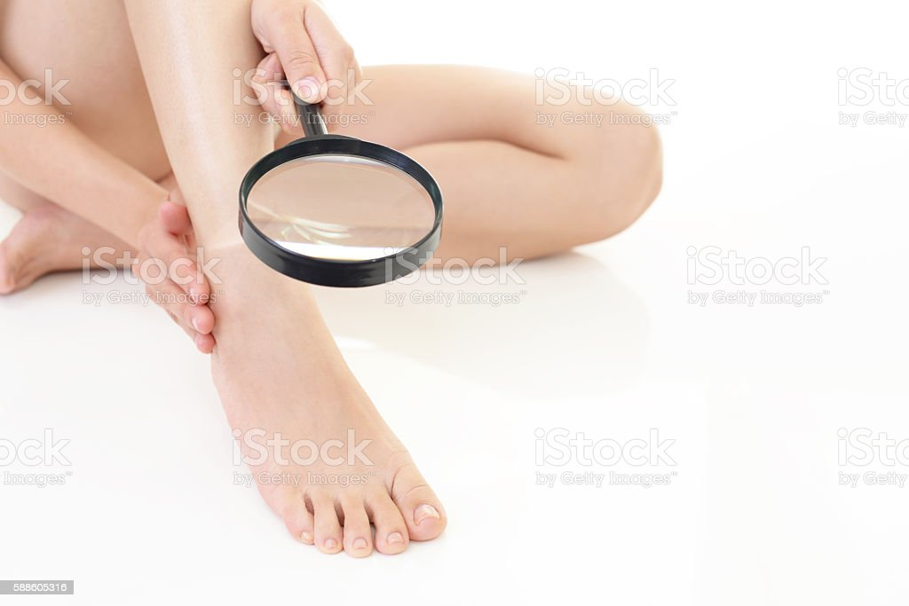 Woman's feet stock photo