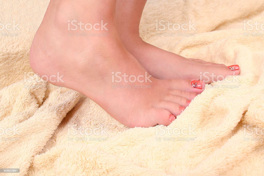 woman's foot royalty-free stock photo
