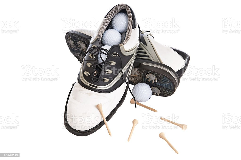 Woman's Golf Shoes stock photo