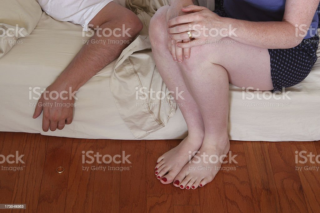 Woman's guilt. royalty-free stock photo