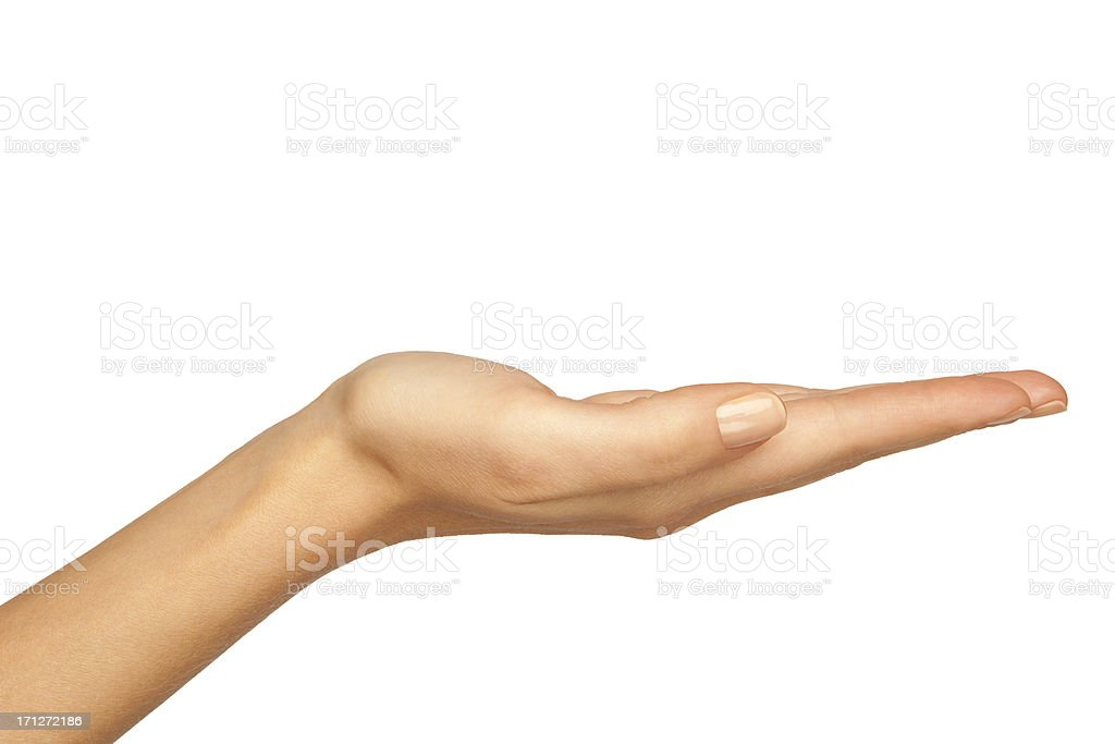 Woman's Hand Holding stock photo