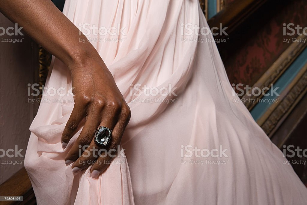 A womans hand stock photo
