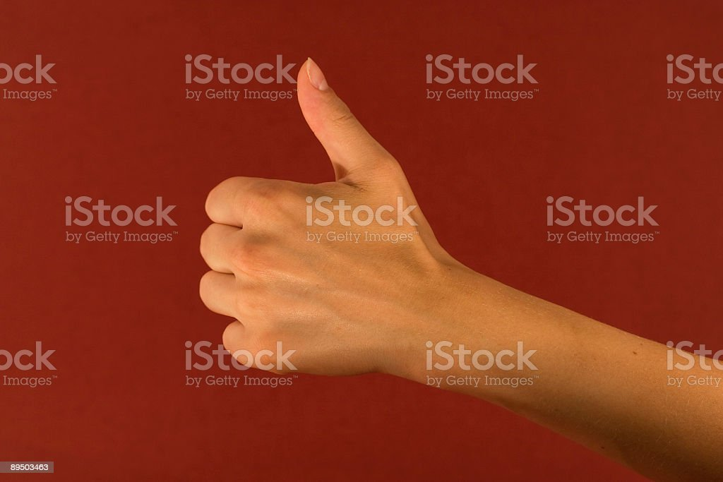 woman's hand showing 'OK' royalty-free stock photo
