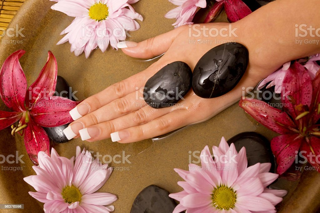 Woman's hands in water royalty-free stock photo