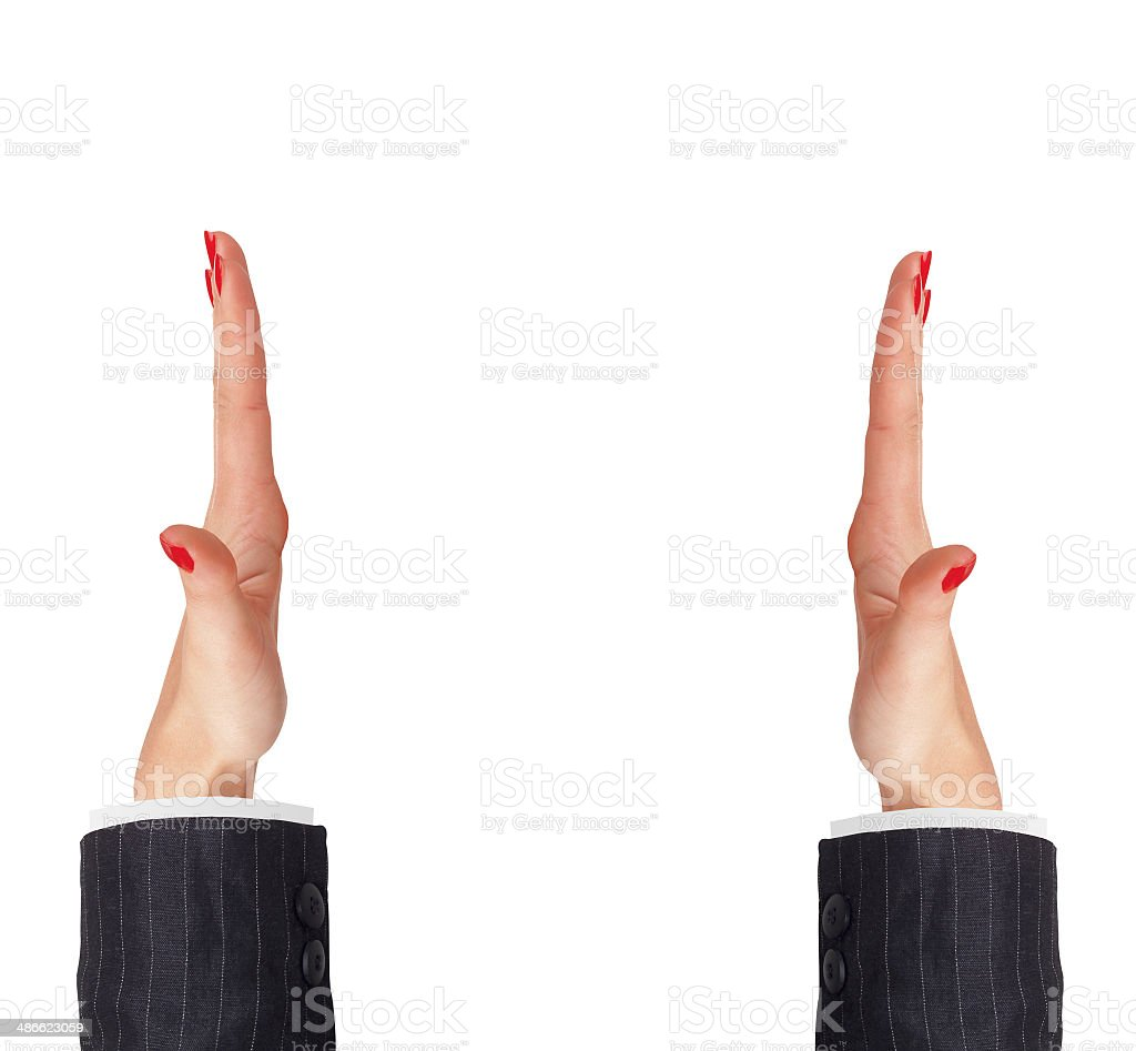 woman's hands isolated on white background royalty-free stock photo