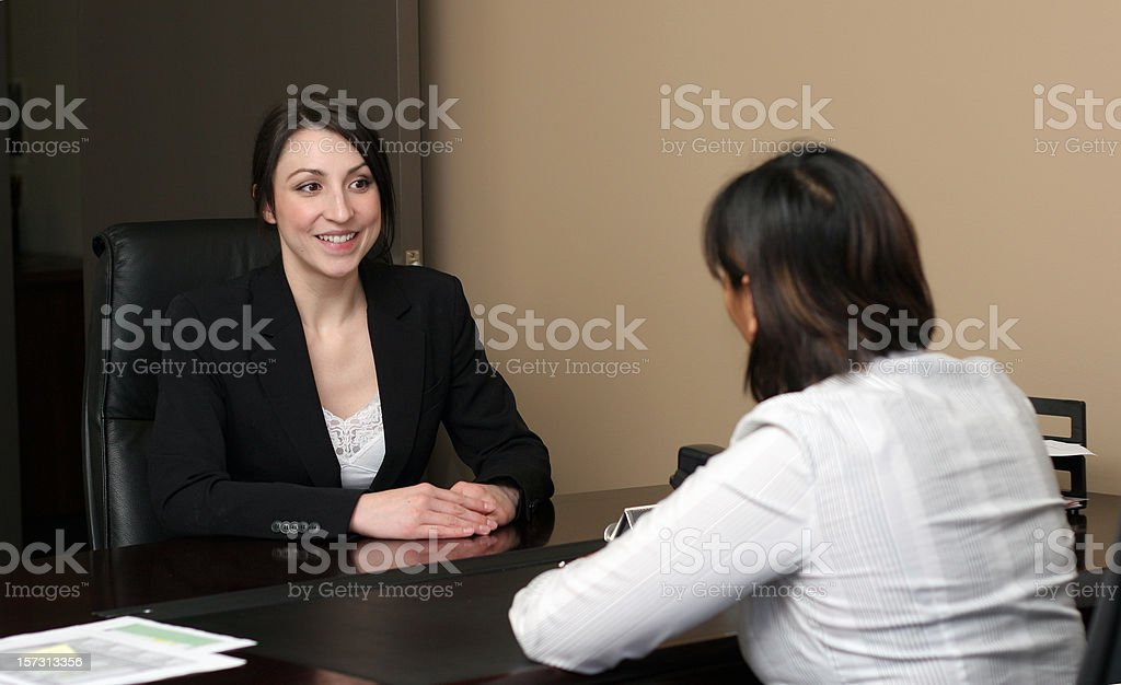 Woman's Job Interview royalty-free stock photo