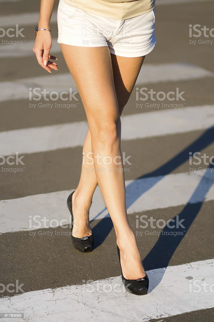 woman's legs stock photo