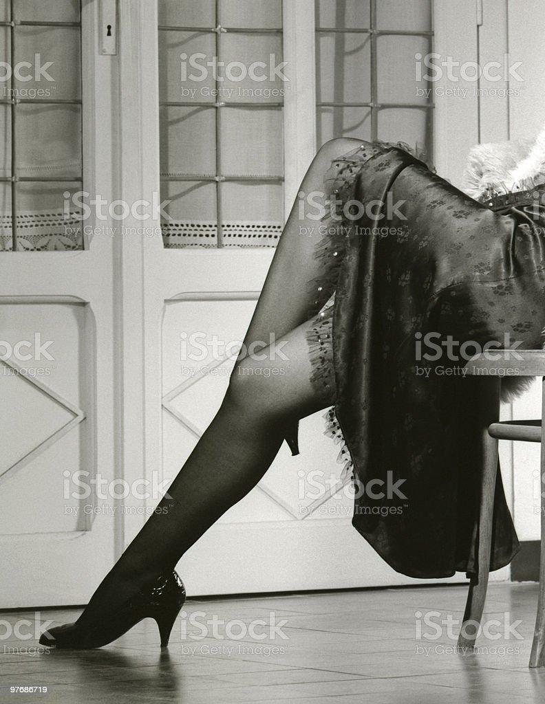 Woman's legs royalty-free stock photo