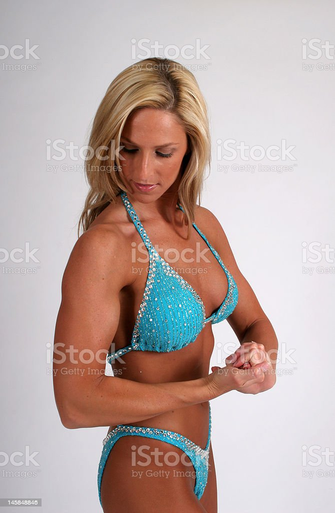 Woman's Muscle royalty-free stock photo