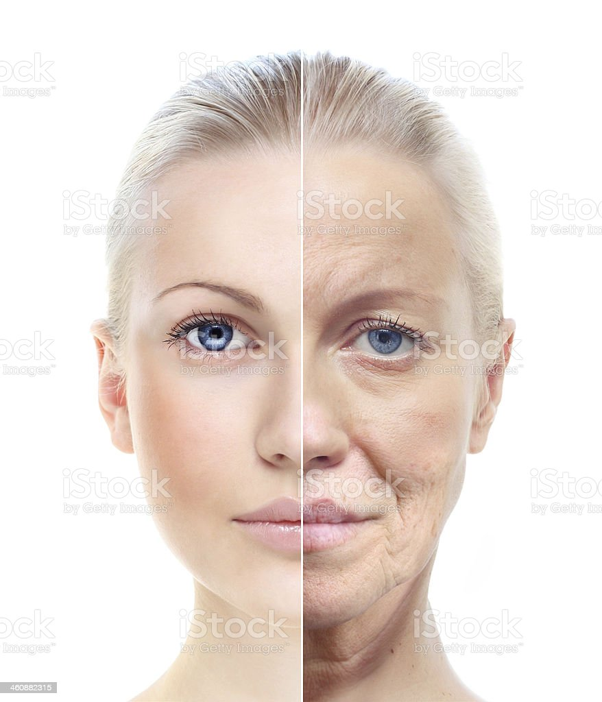 Woman's portrait  20,60 years old. stock photo