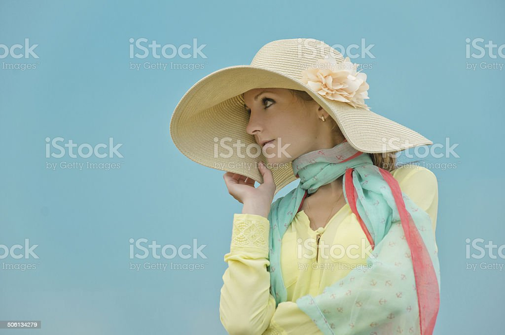 Mulher de perfil foto de stock royalty-free