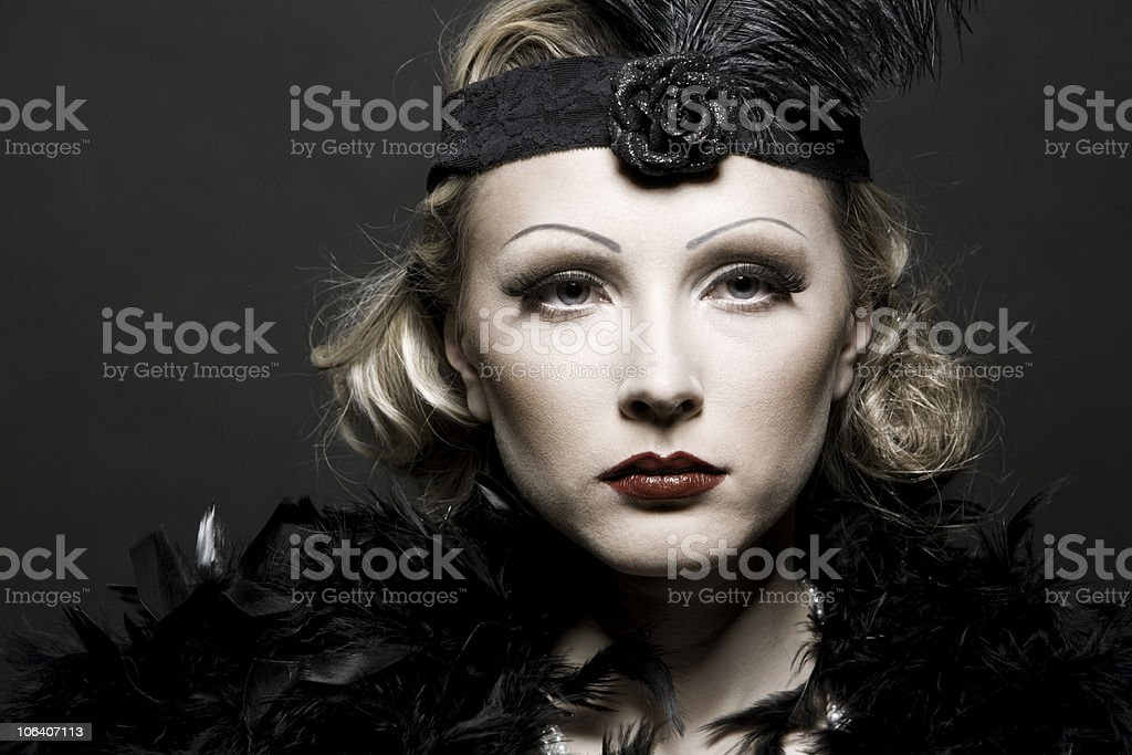 Woman's retro revival portrait royalty-free stock photo