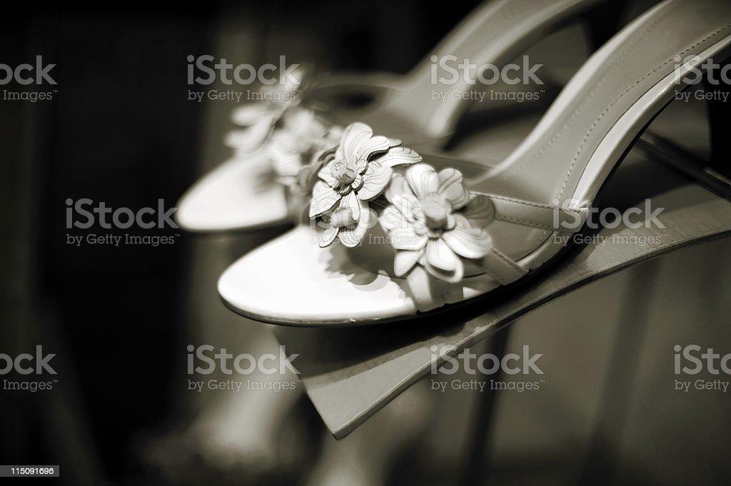 woman's shoe display royalty-free stock photo