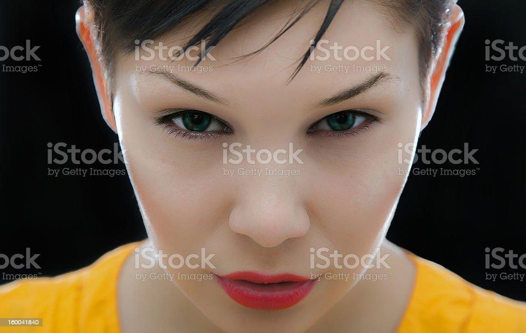 woman`s sight stock photo