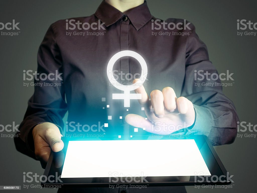 woman's sign stock photo