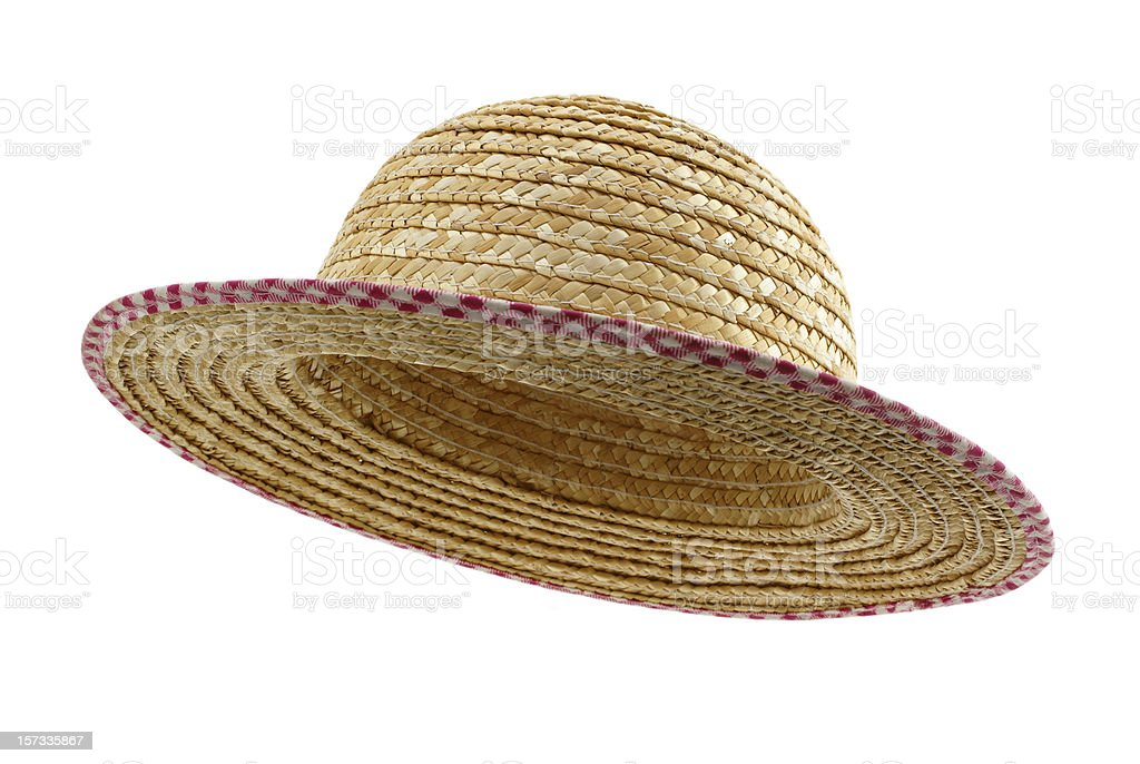 woman's straw hat stock photo
