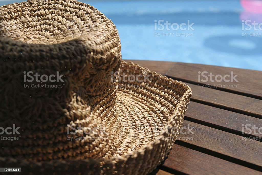 Woman's summer hat royalty-free stock photo