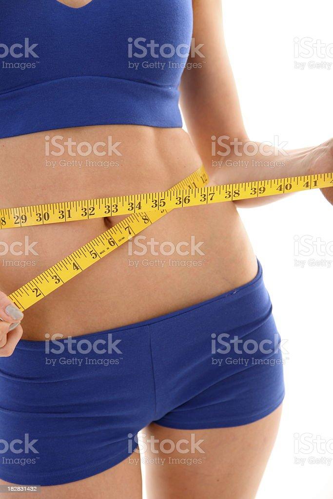 womans cintura medición foto de stock libre de derechos