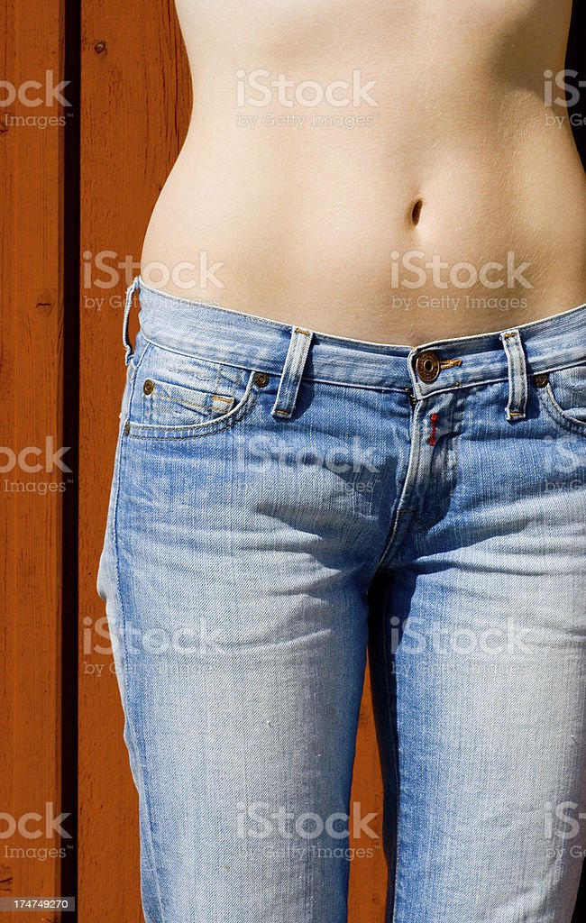 Womans waist royalty-free stock photo