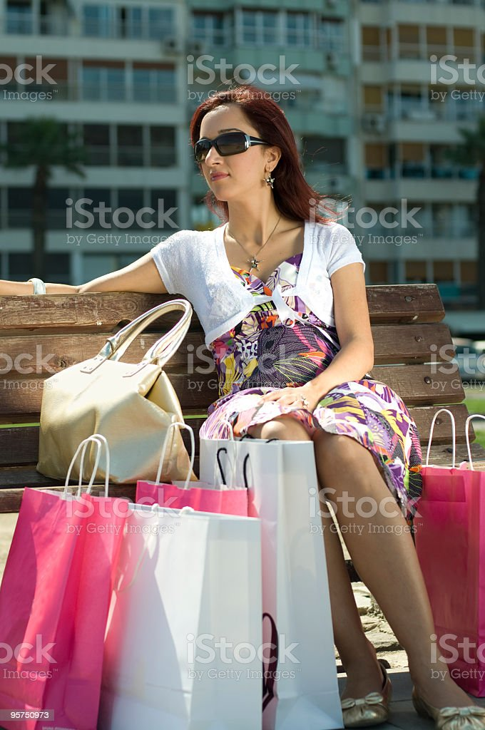 Women and Bags royalty-free stock photo