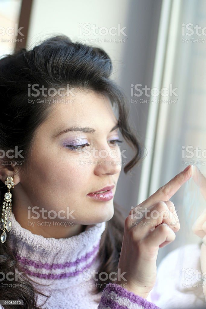Women and hands reflection. royalty-free stock photo