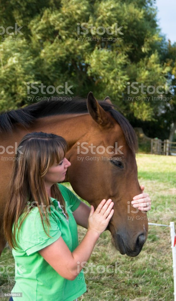 Women and horse, royalty-free stock photo