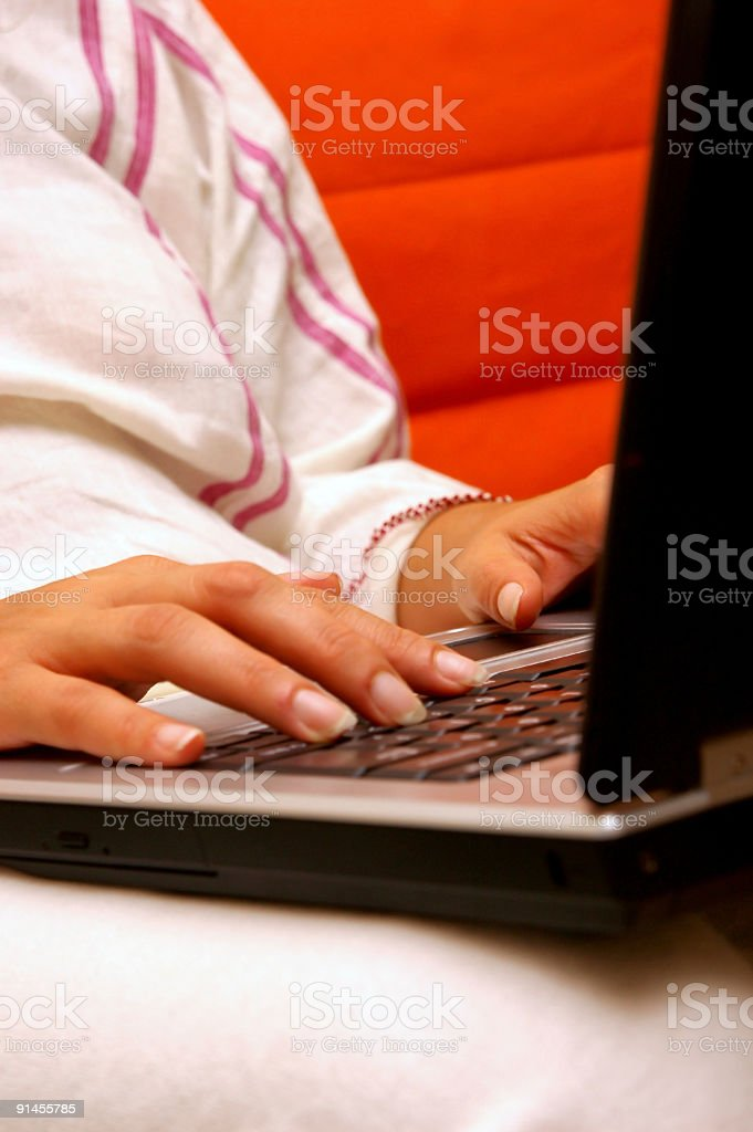 women and laptop royalty-free stock photo