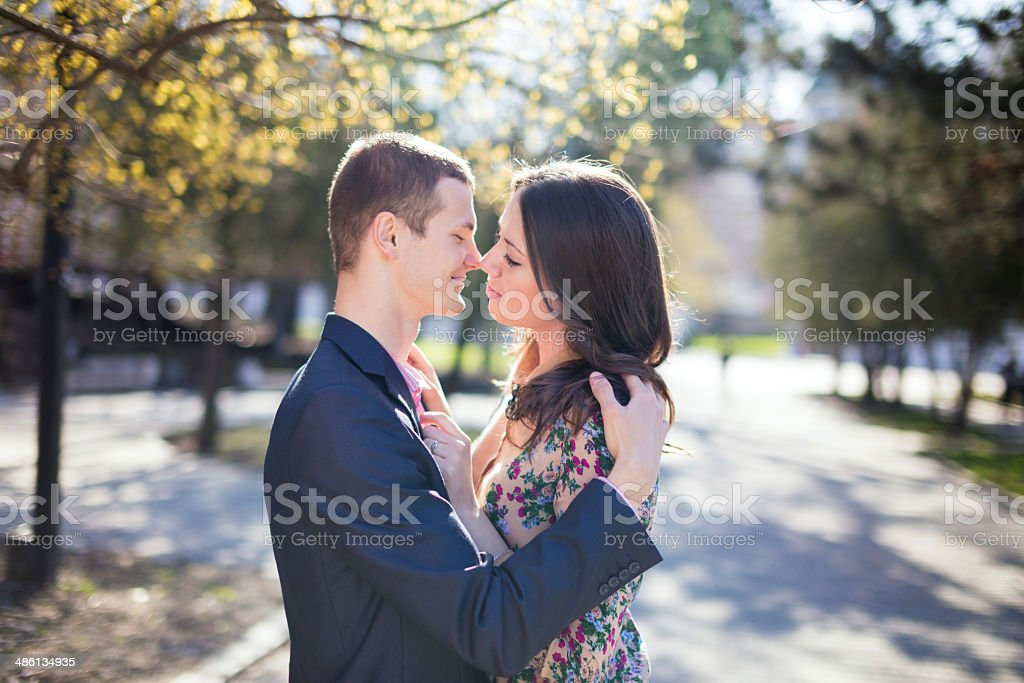 Women and man in Paris royalty-free stock photo