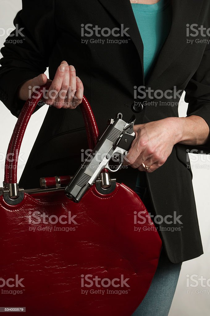 Women and Self Protection stock photo