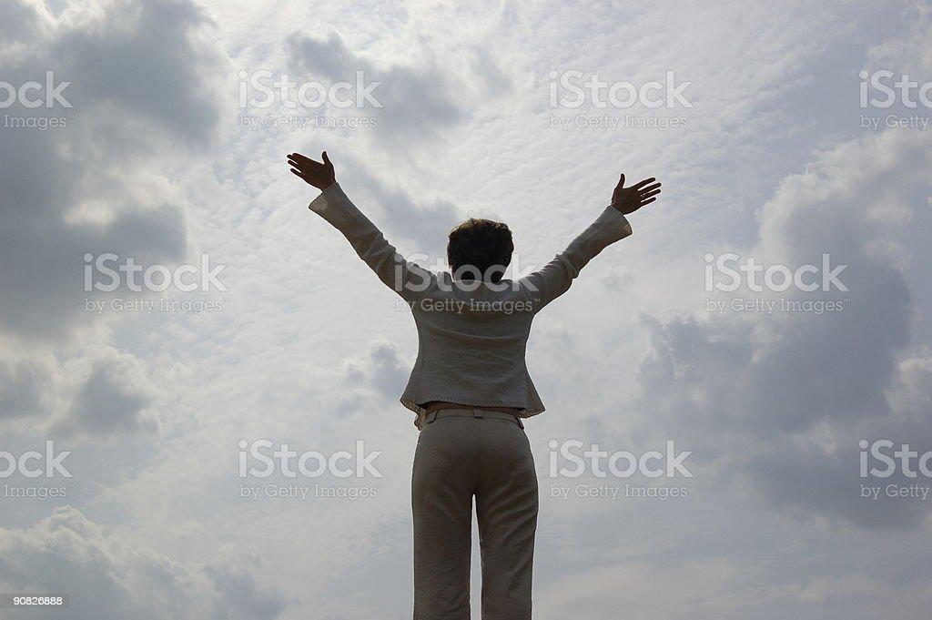 Women and sky stock photo