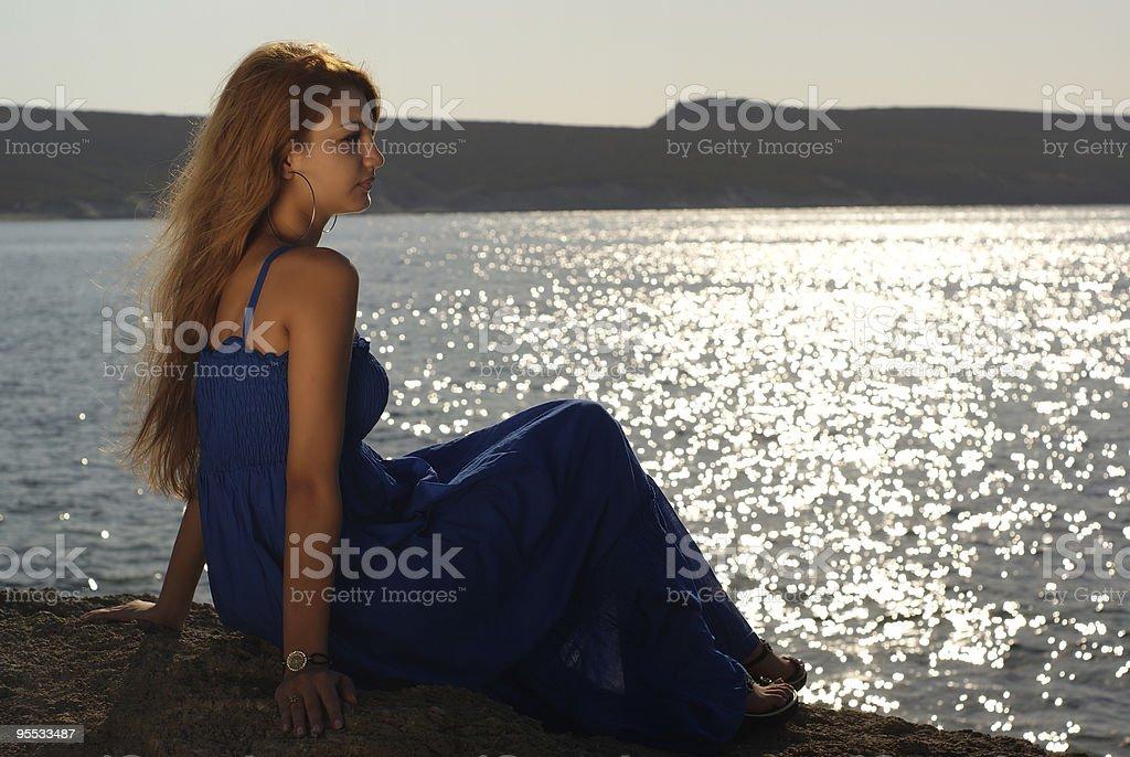 women and the sun stock photo
