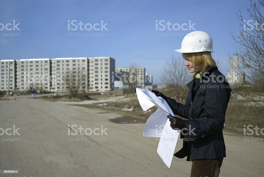 women architect royalty-free stock photo