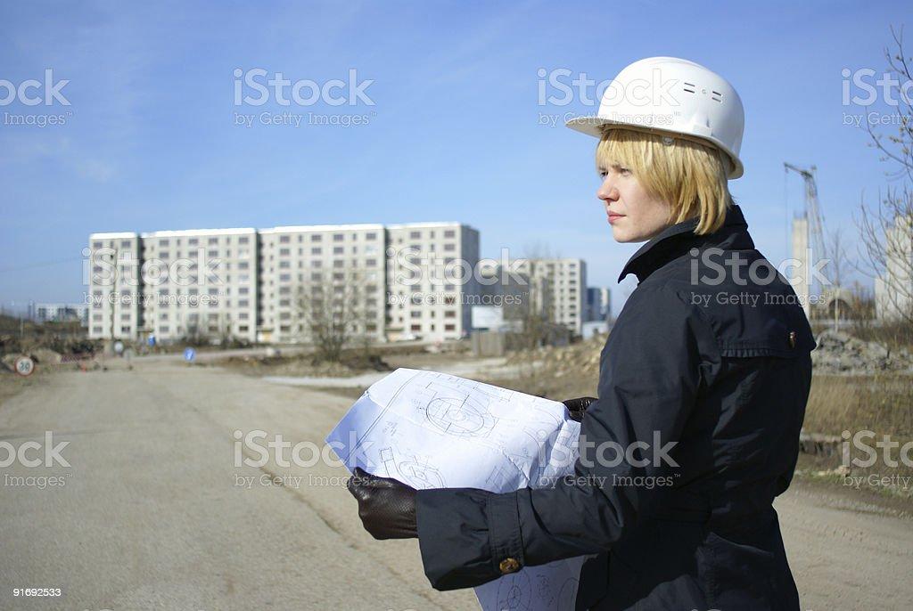 women architect royalty-free stock photo