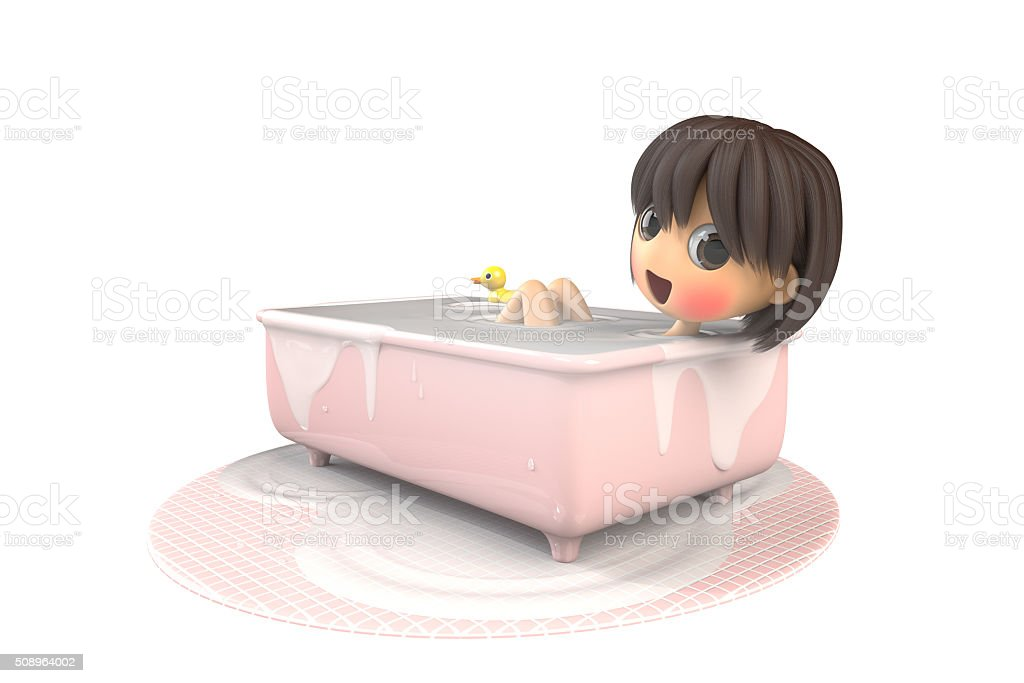 Women are bathing with a smile stock photo