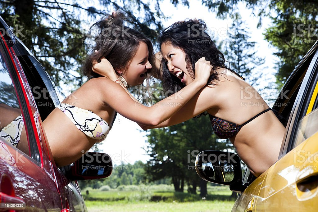 Women arguing stock photo