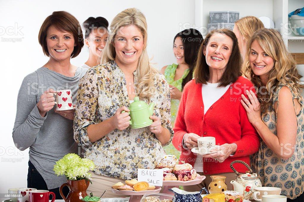 Women At A Bake Sale stock photo
