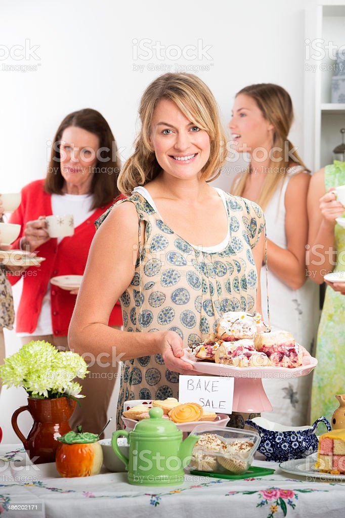 Women At A Bake Sale royalty-free stock photo