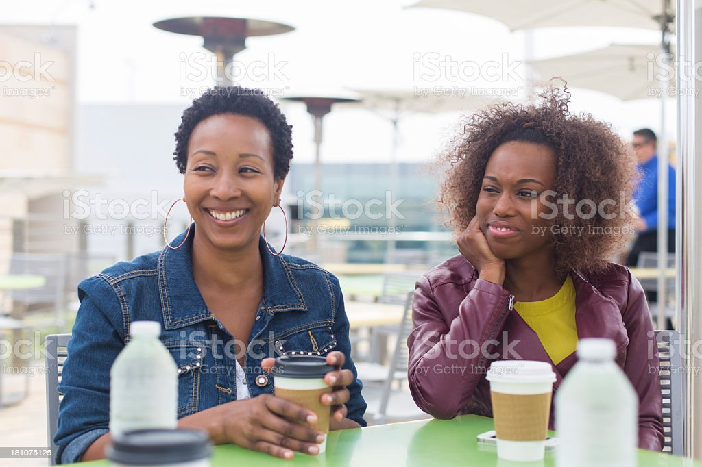 Women at a Cafe royalty-free stock photo