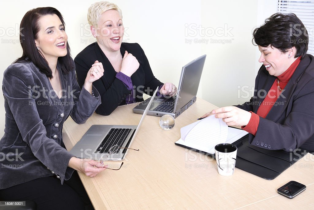 Women at business meeting royalty-free stock photo