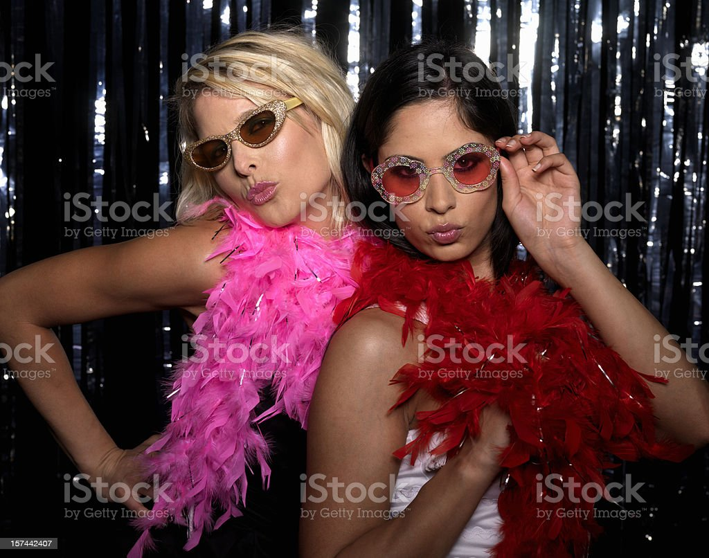 Women at Club stock photo