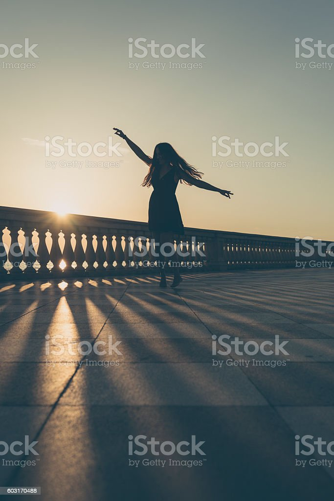 Women at Terrazza Mascagni Livorno stock photo