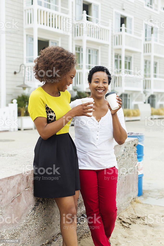Women at the Beach stock photo