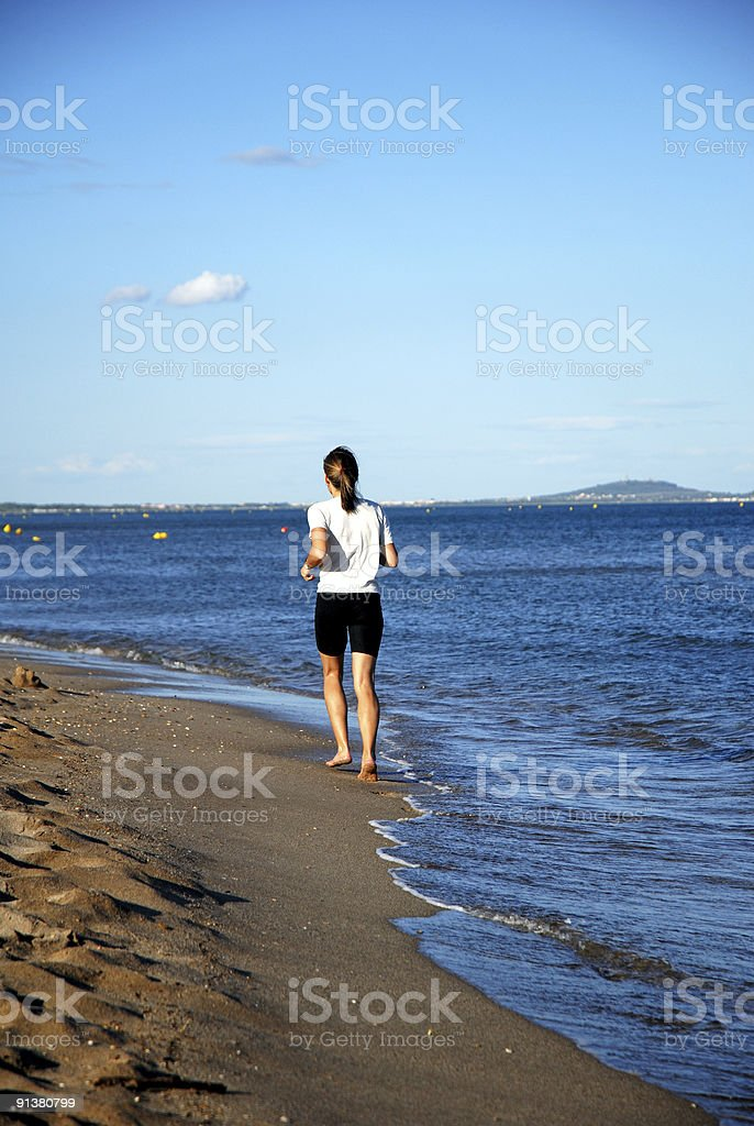 women at the beach royalty-free stock photo