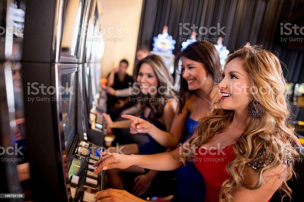 Women at the casino stock photo