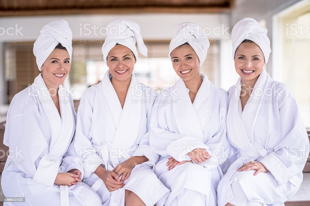 Women at the spa stock photo