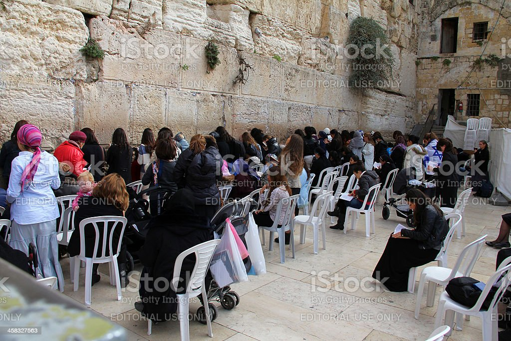 Women at the Western Wall. Jerusalem royalty-free stock photo